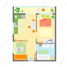 designer office desk isolated objects top view. Apartment Floor Plan With Furniture Top View Engineering Modern Designer Office Desk Isolated Objects I