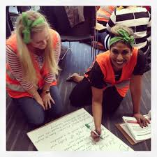 career opportunities fletcher building fb careers teamies emmajpaterson and jo working hard on an exciting team building activity to benefit
