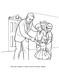 Easter Church Coloring Pages Bluebonkers 2 Children In Church