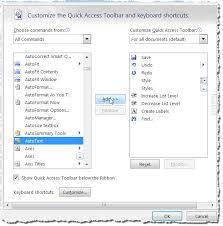 Normal Dot Template Building Blocks Autotext