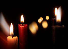 free image candles on a black background
