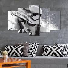 star wars stormtrooper fan art 5 panel canvas print wall art set my big fat on star wars 5 panel canvas wall art with star wars stormtrooper fan art 5 panel canvas print wall art set