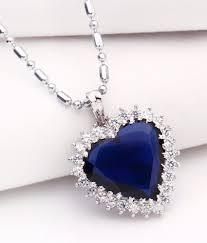 heart of ocean titanic blue stone pendant with chain by create a witty inc heart of ocean titanic blue stone pendant with chain by create a witty inc