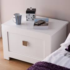 furniture short white wooden bedside table with single drawer and short legs unique bedside