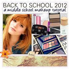 tutorial back to first day makeup outfit back to a middle makeup look polyvore
