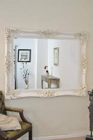 Large Ivory Antique Shab Chic Ornate Big Wall Mirror 5ft X 4ft With Regard  To Large