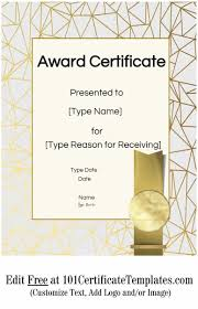 Printable Awards Templates Free Printable Certificate Templates Customize Online