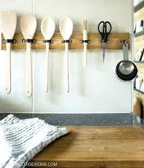 kitchen utensil hanging rack mounted
