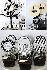 images fancy party ideas: liked  fancy halloween treats in black and white