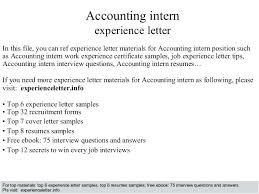 Resume With Internship Experience Examples Sample Accounting Internship Cover Letter Accounting Intern Resume