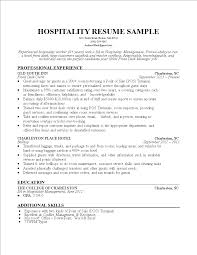 Hospitality Worker Resume Templates At Allbusinesstemplatescom