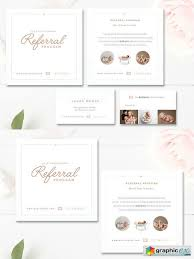 Photo Referral Card Templates Free Download Vector Stock