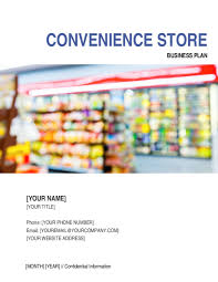 Retail Business Plan Outline Convenience Store Business Plan Template Word Pdf By Business