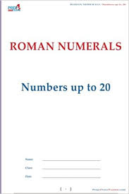 Roman Numerals Numbers Up To 20 Volume 1 Prep4yourexams