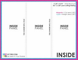 004 Tri Fold Menu Template Google Docs Doc Brochure Various