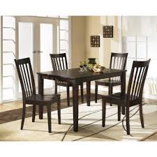 Ashley Furniture Kitchen Table And Chairs Ashley Furniture 5pc Hyland Rectangular Table Set In Red Brown
