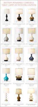 fabulous cordless table lamps by modern vintage battery operated