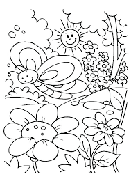 Spring Coloring Page Pages For Preschoolers Kids Pdf Co Porongurup