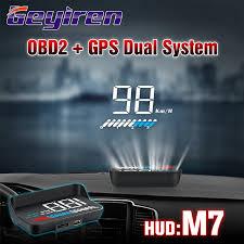 <b>GEYIREN hud</b> obd head up display OBD2 + <b>GPS</b> Dual System M7 ...