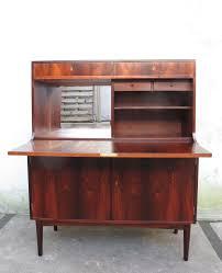 danish modern rosewood drop down secretary desk by h p hansen