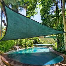 11 5 triangle sun shade sail patio deck beach garden yard outdoor canopy cover uv blocking green com