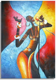 hand painted wall art abstract oil paintings african women singing home decoration by denghuodong dhgate com