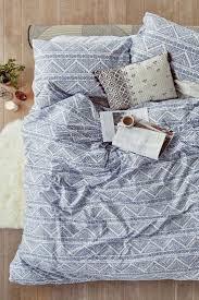knox print blue duvet set