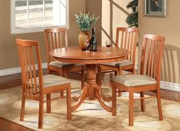Kitchen Table For Two 3pc Round Kitchen Dinette Table Set 42 Inand Two Chairs In Cherry