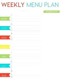 Free Weekly Menu Planner Printable Best Of Cottage Pins