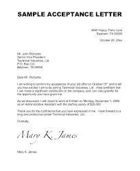 Job Offer Acceptance Letter Reply Elisabethnewton Com