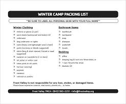 Printable Packing List Template Camping Lists – Happilyltd.co