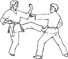 Small Picture Kumite Fighting on Karate Coloring Pages Batch Coloring