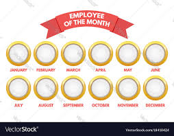 Emploee Of The Month Employee Of The Month Calendar