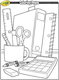 school coloring pages. Brilliant School School Supplies Back To Coloring Page Throughout Pages