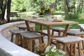 outdoor chairs and tables. Nautical Teak Counter Height Table Outdoor Chairs And Tables E