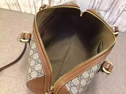 gucci 409527. gucci 409527 gg supreme top handle bag brown fall 2015 n
