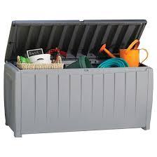 outdoor storage boxes plastic. novel 90 gallon outdoor storage box - gray/black keter boxes plastic o