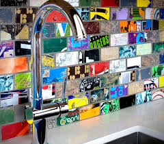 instead of throwing away your old skateboards use them to create a recycled mosaic sk8 tile backsplash