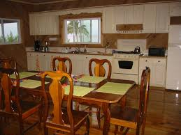 Kitchen Dinner Sea Breeze Beach House House For Rent Utila The Bay Islands