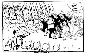 cause of world war ii this drawing by the british cartoonist david low 20 1935 is titled cause comes before effect four days earlier hitler had held his dom to