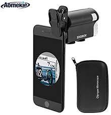 Aomekie LED Magnifier <b>Zoom</b> 60X-<b>100X</b> Microscope: Amazon.co.uk ...