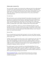 Business Plan Cover Letter Sample Letters Catering Template