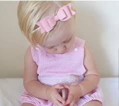 pink bow headband womans leather hair bows homemade newborn baby headbands toddler hairbows uk er