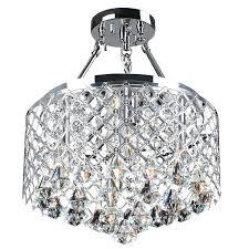 semi flush mount crystal chandelier ceiling light lighting on intended for modern inside fixture ideas nerisa
