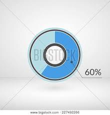 60 Pie Chart 60 Percent Pie Chart Vector Photo Free Trial Bigstock