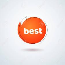 Best Title Design Tag Price Label Title Best Bright Coral Round Banner Frame Design