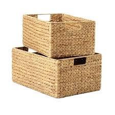 closet storage baskets water hyacinth storage bins with handles closetmaid wire baskets storage