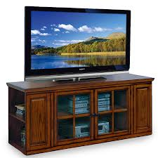 Corner Tv Stand For 65 Inch Tv Amazoncom Leick Riley Holliday Tv Stand 62 Inch Burnished Oak