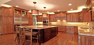 warm stained wood kitchens