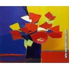 Tableau art déco YVNewab052 tableau Tableaux Fleurs Arts ...
